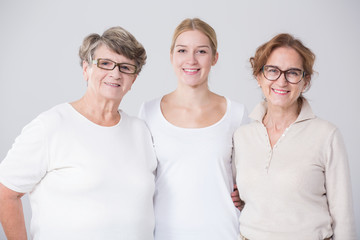Grandmother with daughter and grandchild