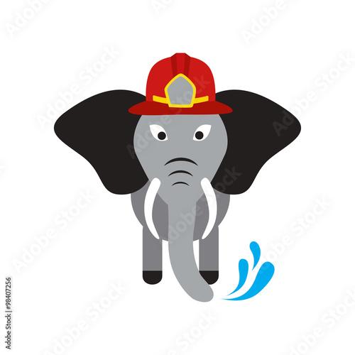 Quot flat icon on white background elephant cartoon immagini