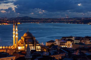 Bosphorus Bridge from Suleymaniye Mosque Istanbul