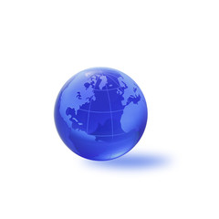 Globe of the World. Atlantic ocean /with clipping path