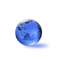 Globe of the World.Eurasia/with clipping path
