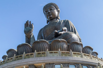 Tian Tan Big Buddha at Po Lin Monastery on Lantau Island, Hong  Kong