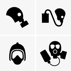 Gas masks (shade pictures)