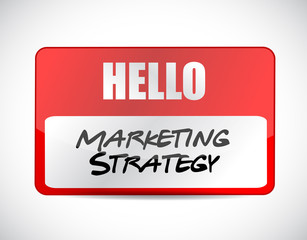 marketing strategy name tag sign concept