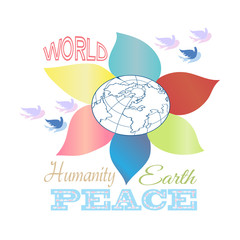 Illustration with peace concept