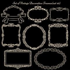 Set of Decorative Vintage Frames and borders