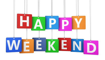 Happy Weekend Sign Tags