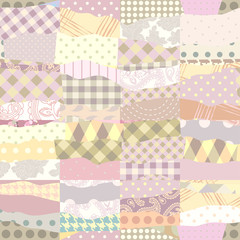 Patchwork of wavy patches