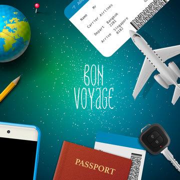 Bon voyage, planning vacation trip