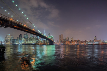 new york night view from brooklyn