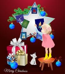 bożonarodzeniowa dekoracja z gwiazdą,