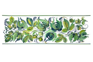 Congrats card,  petrikovskaya painting