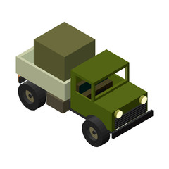 isometric 3D truck. Vector illustration.
