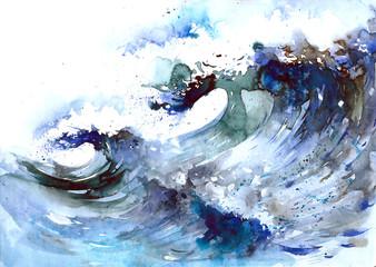 Fotobehang Schilderingen sea