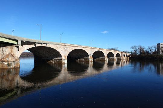 The Bulkeley Bridge in Hartford, Connecticut