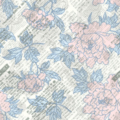 Newspaper scrapbook background