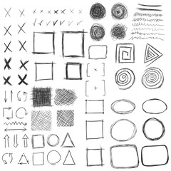 Vector Set of Sketch Abstract Doodles