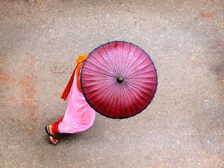 A burmese non in pink sarong