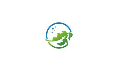 abstract lanscape company logo