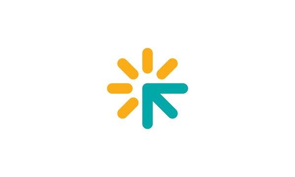 abstract arrow business company logo