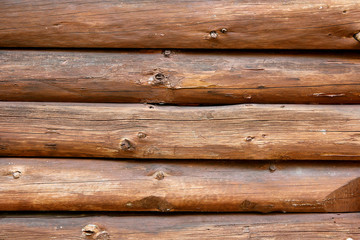 Rustic Log Cabin Wall Background