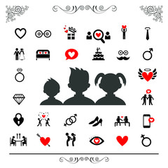 wedding and valentine icon