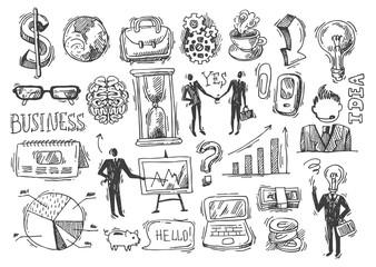 business hand drawn sketch