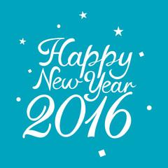 Text Happy New Year 2016