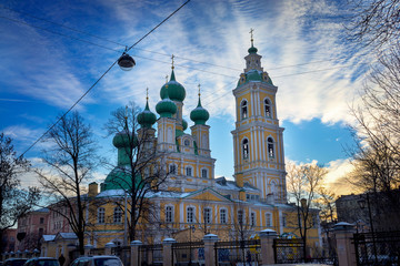Fototapete - Annunciation of Lady Mary Church on Vasilevsky Island, St. Petersburg
