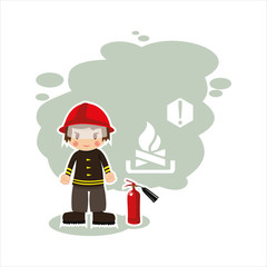 the fireman in vector format