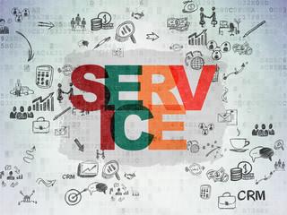 Business concept: Service on Digital Paper background