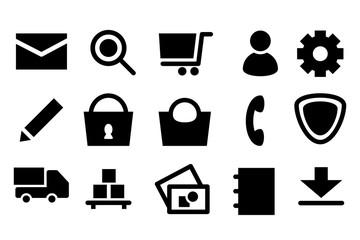 Piktogramm Icon Set: Ideal für Shops mit den häufig verwendeten Icons und Piktogramme