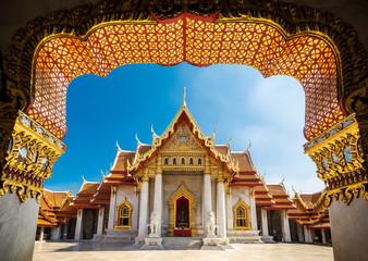 Aluminium Prints Bangkok Marble Temple - Bangkok