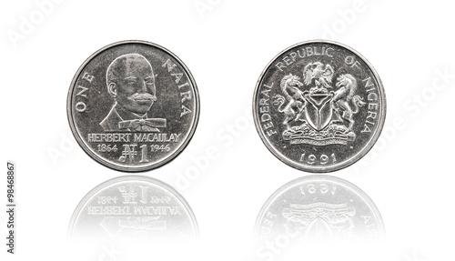Coin 1 naira NGN, Nigeria