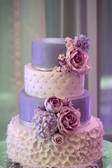 Four-layer wedding cake