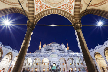 Entrance of Sultan Ahmed Mosque in Istanbul, Turkey