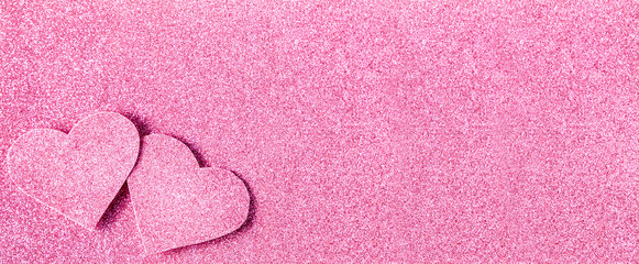 Pink glitter shiny abstract valentine's day background