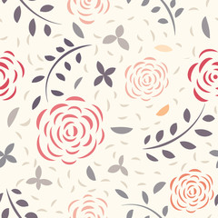 Vectorial floral seamless pattern of flowers