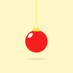 Christmas ball, merry christmas and happy new year
