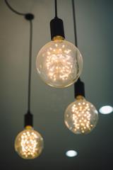 Beautiful retro light lamp decor glowing
