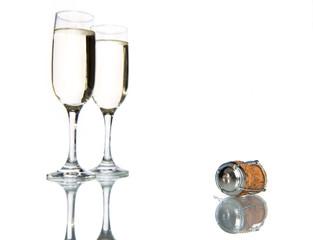 Glass of champagne, celebration holiday
