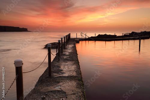 Malabar Ocean Pool at dawn sunrise Australia