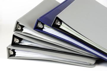 document folders on white background