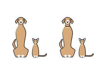 犬と猫 バリエーション