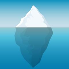 Abstract iceberg background
