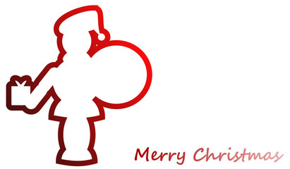 The Santa Claus icon with greeting word
