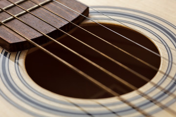 classic six-string guitar up close
