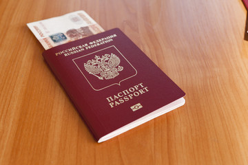 Passports on a table