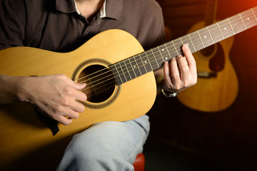 Musicians are compared the guitar sound.