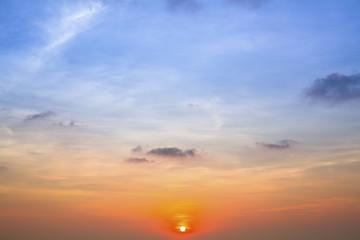 Before sunset beautiful blue sky.
